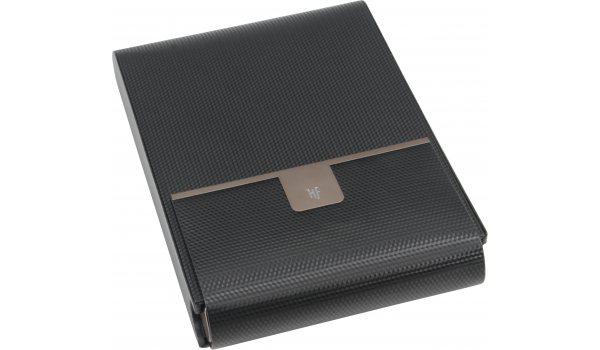 HF Barcelona Reisehumidor in schwarzer Karbonoptik für 10 Zigarren
