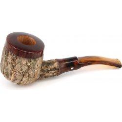 Tom Spanu Kork-Pfeife Half Bent Form Pot Braun