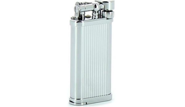 IM Corona Old Boy Pfeifenfeuerzeug Chrom mit integriertem Pfeifenstopfer