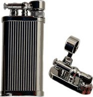 IM Corona Old Boy Pipe Lighter Chrome Pinstripe