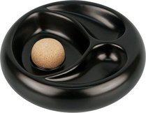 Ceramic Ashtray Matte Black for 2 Pipes