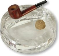 Clear Glass Pipe Ashtray