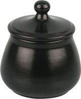 Ceramic Tobacco Jar Matte Black